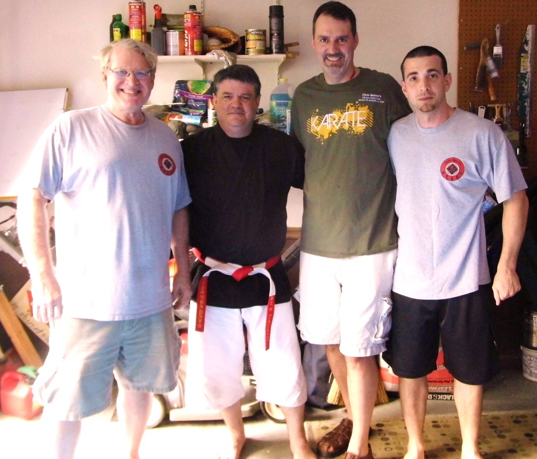 Nelson Kyoshi, Sensei Matt Henderson 5th Dan Goju Ryu, Sensei Gary Torkington and Sensei Chris Corvi June 2014