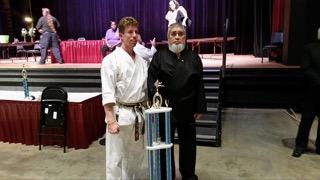 Yamamoto Sensei with Stephen Arroyo - Grand Champion - Oct 2015